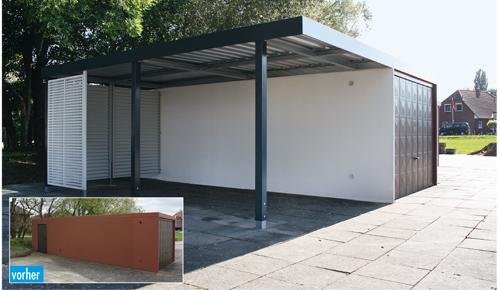 Fertiggarage mit carport anbau  Garagen Schmidt - Osnabrück